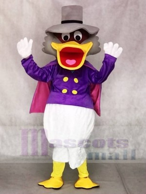 Donald Duck with Hat and Purple Cloak Mascot Costumes Cartoon