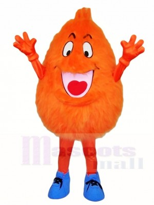 Fluffy Orange Monster Mascot Costumes
