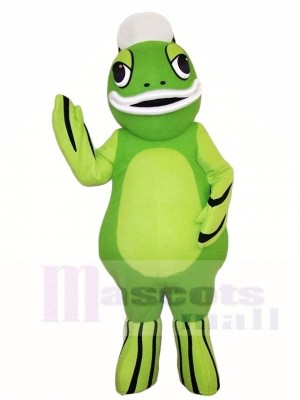 Green Freshwater Fish Mascot Costumes