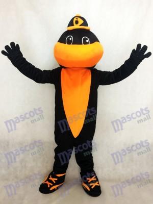 Black and Orange Sport Team Baseball Bird Baltimore Orioles Mascot Costume