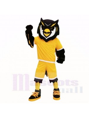 Sport Owl with Yellow Shirt Mascot Costumes Adult