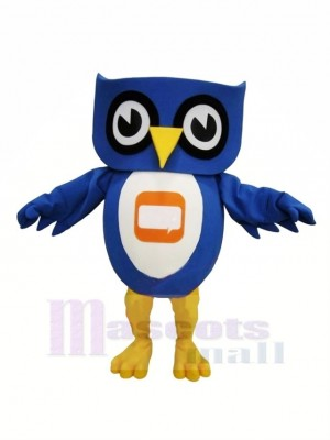 Lovely Blue Owl Mascot Costumes Cheap