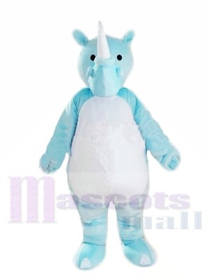 Blue Lightweight Rhinoceros Mascot Costumes