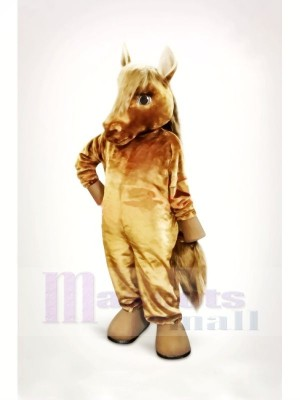 Lovely Brown Horse Mascot Costumes Cartoon