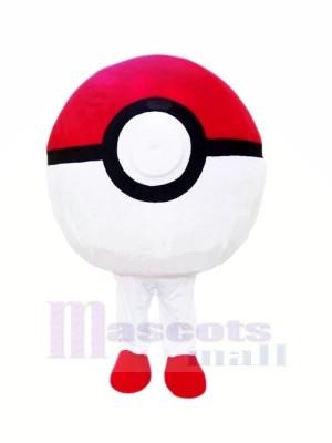 Red and White Poke Ball Mascot Costumes Cheap