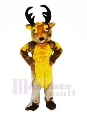 Power Muscular Deer Mascot Costumes Cartoon