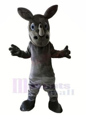 Grey Rhino with Big Eyes Mascot Costumes