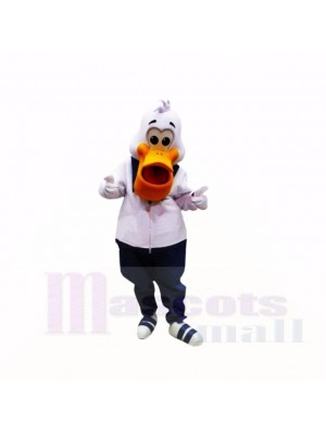 Sport Pelican with White Clothes Mascot Costumes Cartoon