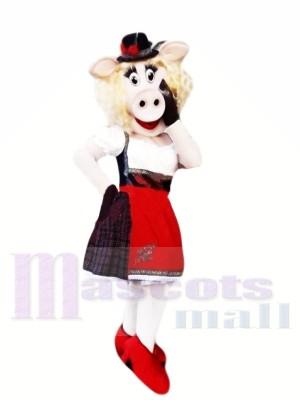 Fashionable Pig Mascot Costumes