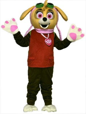 Paw Patrol Skye Black Dog Mascot Costumes Fancy Suit Cartoon Character