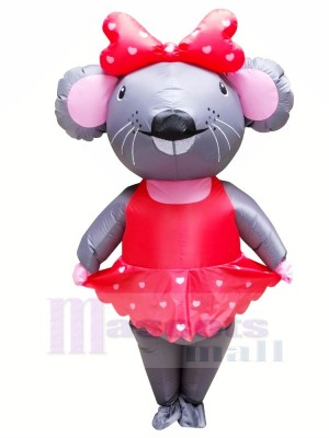 Mrs. Mouse with Red Dress Inflatable Mascot Costumes Cartoon