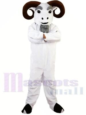 White Funny Ram Mascot Costume Adult Size Halloween