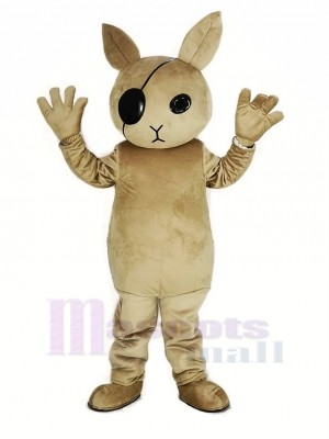 Rabbit Butler Mascot Costume Cartoon