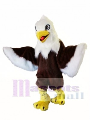 Long Fur White Head Eagle Mascot Costume