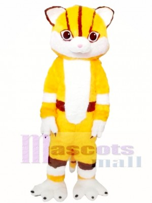 Yellow Cat Mascot Costume