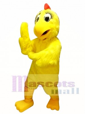 Yellow Chicken Hen Mascot Costume