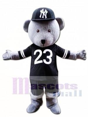 Grey Teddy Bear Mascot Costume