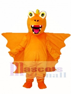 Orange Long Thorn Dragon Mascot Adult Costume