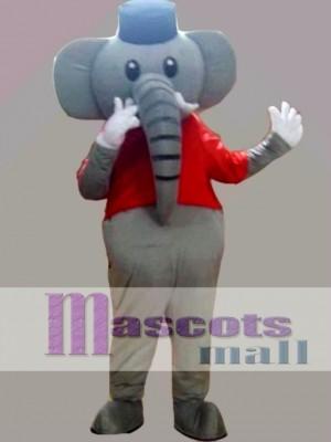 Grey Elephant Mascot Costume Cartoon