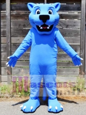 Blue Panther Leopard Mascot Costume