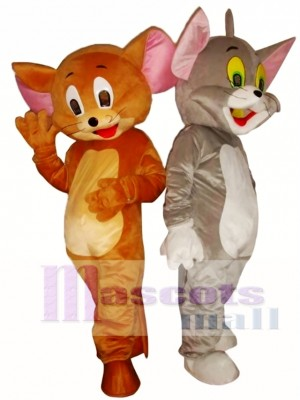 Jerry Mouse or Tom Cat Costume Cartoon Mascot Costume