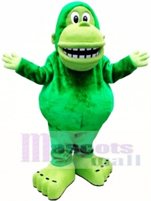 Green Big Mouth Gorilla Mascot Costume