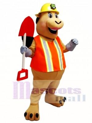 Worker Pig Mascot Costume