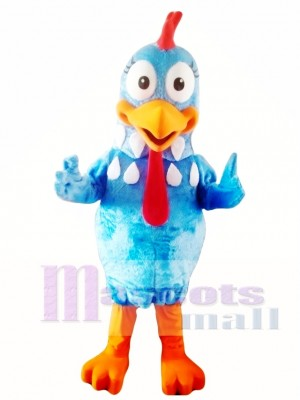 Blue Chicken Mascot Costume Adult Character Costume