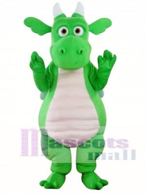 Green Adult Dragon Mascot Costume