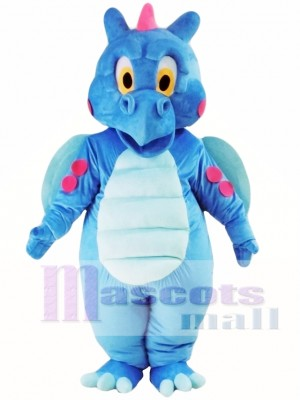 Cute Blue Dragon Mascot Costume