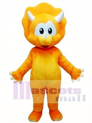 Orange Dinosaur Mascot Costume