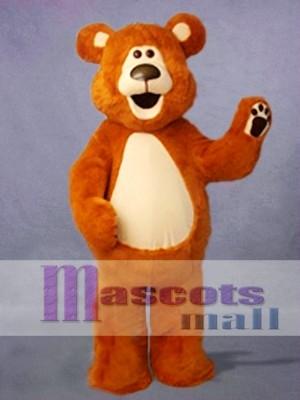 Happy Brown Bear Mascot Costume