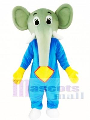 Blue Body Elephant Mascot Costume