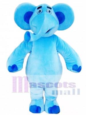 Blue Elephant Mascot Costume For Adults