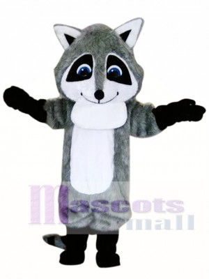 Cute Gray Raccoon Mascot Costume