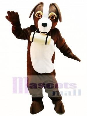 Cute St. Bernard Dog Mascot Costume
