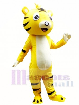 Yellow Cartton Tiger Mascot Costume