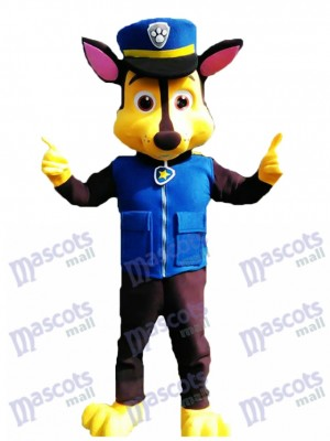 New Paw Patrol Chase Dog Adult Mascot Costume Fancy Suit Cosplay