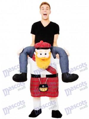 Piggy Back Scotsman Carry Me Scottish Mascot Costume Ride On Fancy Dress