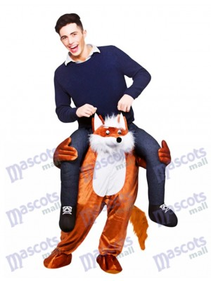 Carry Me Fantastic Fox Piggy Back Mascot Costume Ride On Funny Fancy Dress