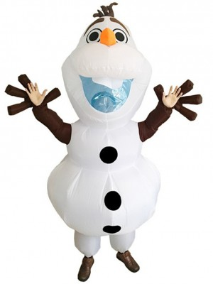 Inflatable Olaf Snowman Frozen Halloween Christmas Costumes for Adults