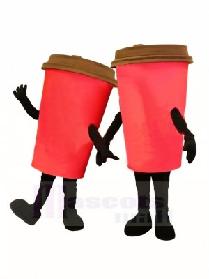 Red Coffee Cup Mascot Costume