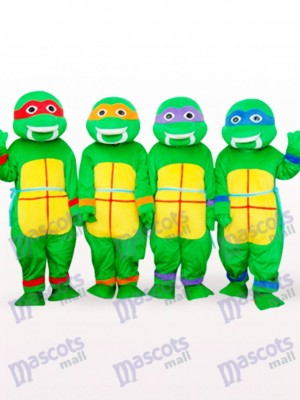 FOUR Green Teenage Mutant Ninja Turtles Anime Adult Mascot Costume