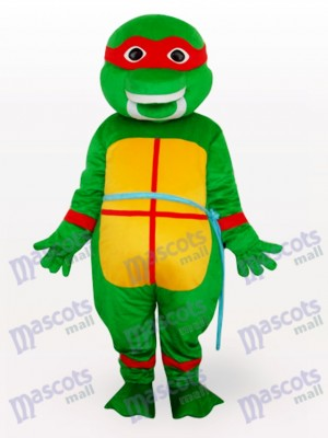 Red Teenage Mutant Hero Turtles Adult Mascot Costume