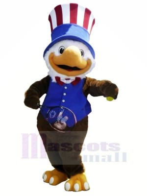 Blue Vest American Olympics Eagle Mascot Costumes Animal