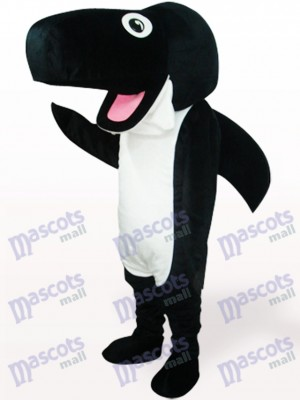 Black Whale Plush Adult Mascot Costume