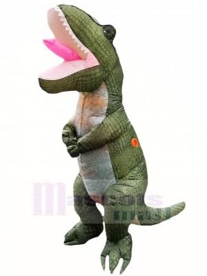 Dark Green Tyrannosaurus T-Rex Inflatable Costume