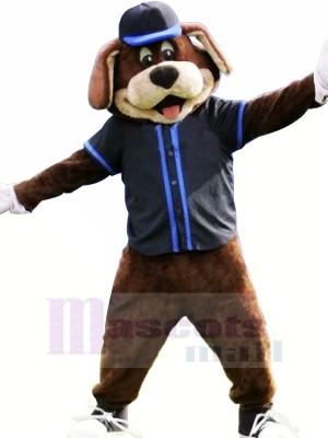Black Hat Baseball Dog Mascot Costume Animal