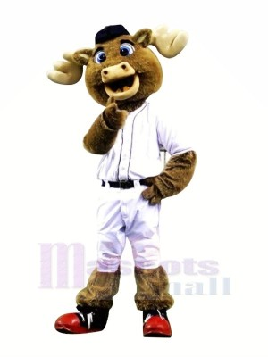 Baseball Moose with Red Shoes Mascot Costumes Animal