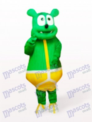 Green Bear Monster Cartoon Mascot Costume